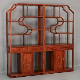 Solid wood duo shelf, yishujia, xuanguang