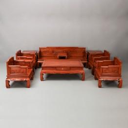 Burma Ming Chinese pear Burma padauk FLOWER HORN sofa,Solid wood sofa