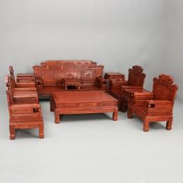 Chinese Burma pear padauk sofa
