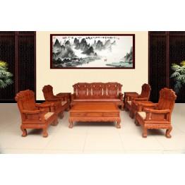 Burma padauk classical Chinese rosewood sofa,Solid wood chair