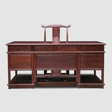 African rosewood non acid Ming Chai,,Executive Desk, Executive Office Desks - Beautifully Crafted Traditional Style Desks