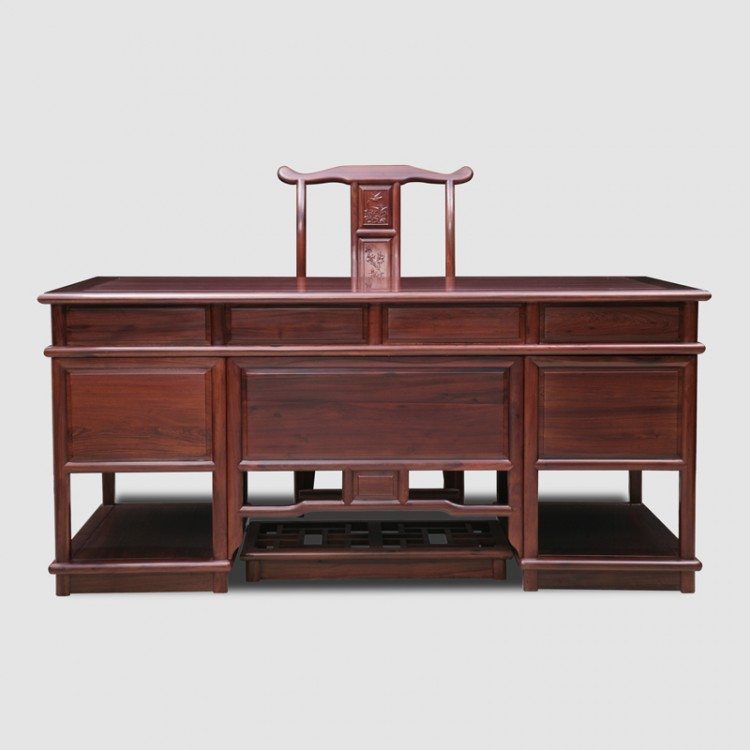 African Rosewood Non Acid Ming Chai,,Executive Desk, Executive Office Desks    Beautifully