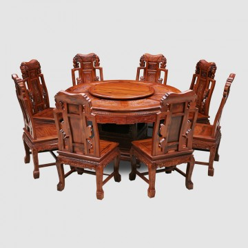 Classical Chinese African acid branch non acid 1.38 meter round table,Wooden table
