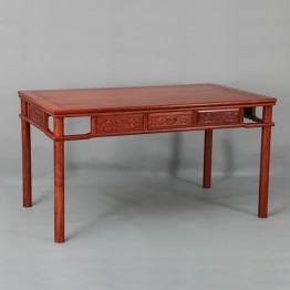 Classical Chinese style African pear flower,Wooden table