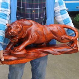 Rosewood carving tiger wood crafts gifts Home Furnishing decoration Feng Shui